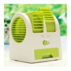 StarHome AC Duduk Mini Portable - Double Blower Mini AC - Kipas Angin Hijau