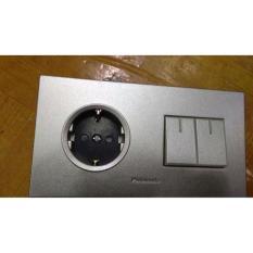 Stop Kontak Plus Saklar Seri Silver Panasonic - 3Ec5b3