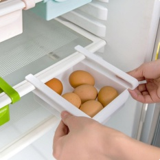 Storage Box Slidding Rak - Rak Meja Kotak Cantol Multifungsi Rak Cantol Serbaguna Freezer Slidding Rak Kulkas - Mix Colour
