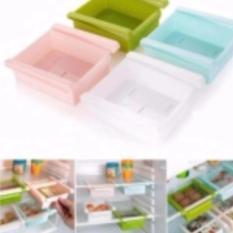 Storage Box Slidding Rak - Rak Meja Kotak Cantol Multifungsi Rak Cantol Serbaguna Freezer Slidding Rak Kulkas - Mix Colour