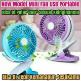 Beli Teckyo Mini Fan 05 Kipas Angin Mini Jepit Kecil Cas Charge Rechargable Online
