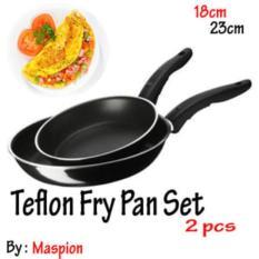 Teflon Frypan Set 2In1 18Cm Dan 23Cm / Fry Pan Wajan Murah By Maspion - 56A9E6