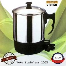 Teko Pemanas Air Stainless Steel 7STAR mug listrik 11 Cm / Panci Listrik Stainless Steel 11 Cm