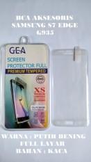 TEMPERED GLASS ANTI GORES FULL KACA SAMSUNG S7 EDGE G935 PUTIH BENING