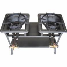 Tenno GSLA-230-TR Kompor Gas Tekanan Tinggi/High Pressure Manual 2 Tungku + Rangka Tinggi 75 cm