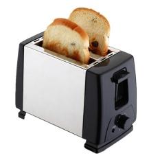 Toaster 2 Slice Stainless Steel-Toaster untuk Bagel dengan Slot Lebar dan Kontrol Suhu Yang