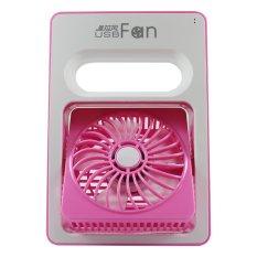 Harga Termurah Tokokadounik Kipas Angin Portable Rechargeable Pink