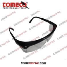 Tomeco Kacamata UV Lensa Abu Gagang Hitam Safety Glasses KPS-842