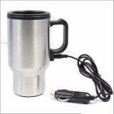 Travel Electric Mug Kettle Cup Thermos 12V Car Cyprus Silver Terbaru