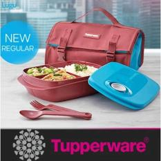 Tupperware Byo / B.Y.O Lunch Set Tempat Makan Lengkap Dapat Tas - E963ab