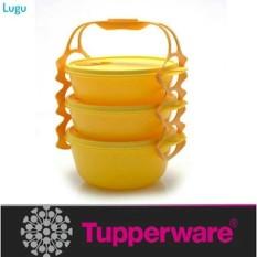Tupperware Carry All Bowl Rantang Makanan / Kue / Piknik Kuning Yellow - Ee96ce