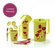Harga Tupperware Flower Drink Set Flower Drinking Set Pitcher 4Pcs Gelas Promo Tupperware Terbaik