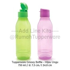 Tupperware Groovy Bottle Eco 750 Ml Tempat Minum Botol 750Ml - 6Ce7db