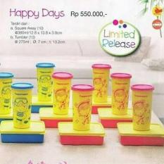 Tupperware Happy Days (Lunch Box + Tumbler) - 73A6B3