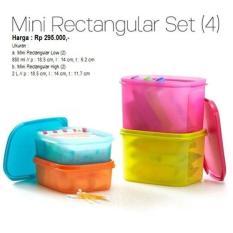 Tupperware Mini Rectangular Set Wadah Tempat Makanan - B3E6C5