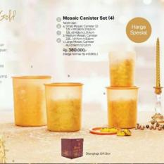 Review Toko Mosaic Canister Set Gold Toples Tempat Kue Online