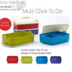Tupperware Multi Click To Go Klik Clic Clik T Rantang 4 Susun Multy - 9Ace77