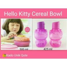 Tupperware Paket Hello Kitty Bottle Dan Cereal Bowl - Pink