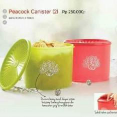 Jual Tupperware Peacock Canister 2 Branded