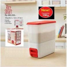Tupperware Rice Smart Dispenser Tempat Beras Ukuran 10Kg - 66Dccb