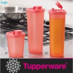 Tupperware Smart Saver Round Set Tempat Minyak Bumbu Saos Kecap 2 Pcs - 56Cc79