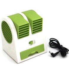 Harga Universal Mini Small Fan Cooling Portable Desktop Hijau Yg Bagus