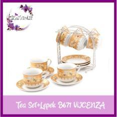 Vicenza Tea Set Cangkir+Lepek 13 Pcs B671 - 69B9A9
