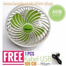 Review Visalux® New Model Vs8606Li Kipas Angin Rechargeable Emergency Fan 6 Inch Free 1Pcs Kabel Usb 100Cm Di Indonesia