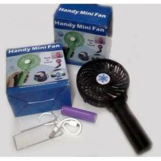 One Handle Kipas Angin SF-2 Rechargeable Mini Lipat Gagang Foldable & Portable with Baterry Charge - Hitam