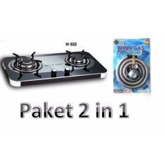 Winn Gas Kompor 2 Tungku W 888 Selang Gas Paket Platinum Winn Gas Diskon