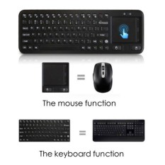 Wireless Keyboard + Tombol Mouse Kiri Kanan + Fitur TouchPad Laptop