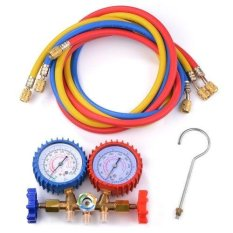 XCSOURCE R134a R12 R22 AC A/C Manifold Gauge Set 1m Colored Hose Air Conditioner HS579