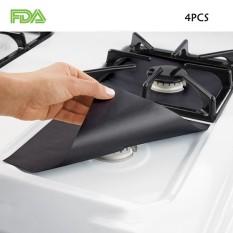 Xiteng 4 Pack Ketebalan Dua Kali Gas Pelindung Rentang Teraman Di Pasaran 100% Bersertifikat BPA PFOA Reusable Gratis, Non-stick-Intl