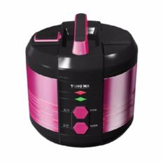 Yong Ma Ymc 207 Colored Stainless Rice Cooker - Hitam [2.5 Liter]