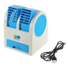 Mini AC Cooling Fan Conditioner 2 Blower - Biru
