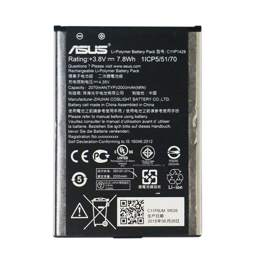 Batre Battery Baterai Handphone HP Asus ZenFone 2 Laser ZE500KL ZE500KG 5 inch C11P1428 batas7