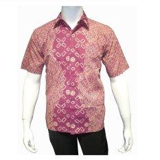 Jual Batik Solo Bo5022 Kemeja Batik Pria Motif Parang Merah Batik Solo Original