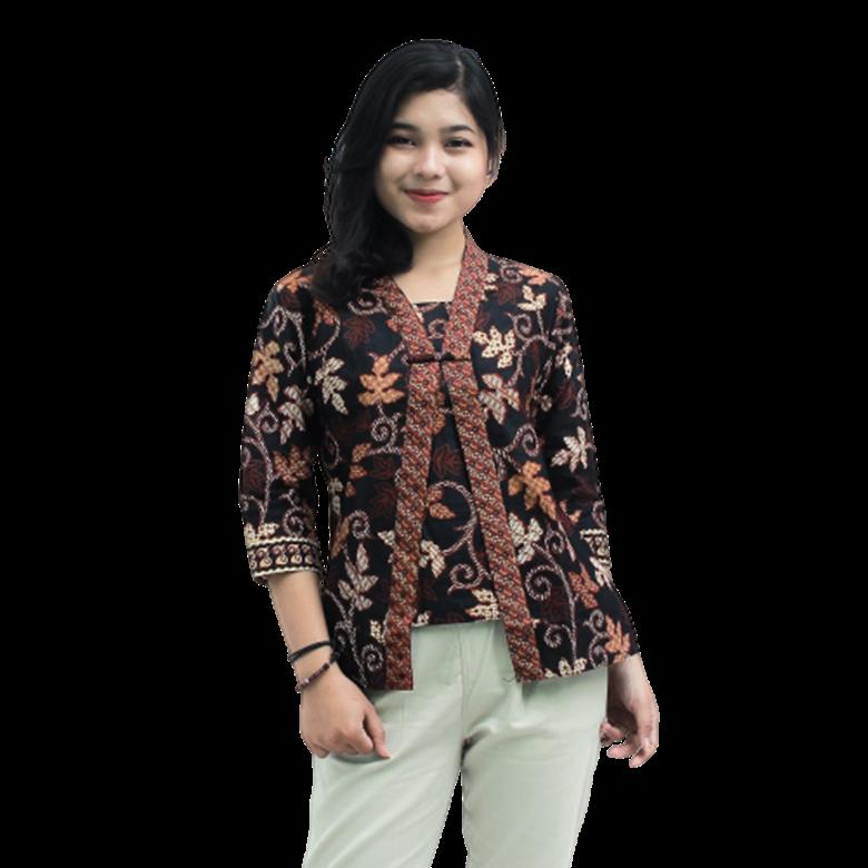 Model Baju Batik Atasan Jahitan - 30 Model Baju Batik Guru ...