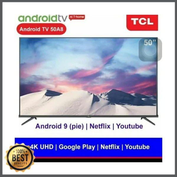 Ready  Ads-274 TCL LED TV 50. INCH 50A8 SMART ANDROID 9 DIGITAL NETFLIX [ Adriani Shop ]
