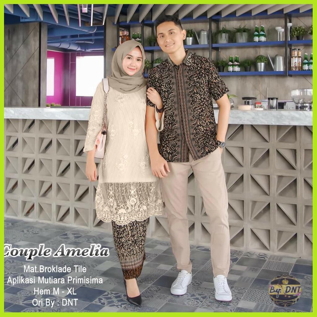 BAYAR DI TEMPAT - Baju Batik Couple / Baju Muslim Wanita Terbaru 2019 / Batik Sarimbit / Batik Modern / Kebaya Couple / Gamis Batik / Batik kondangan / Batik Murah / Batik Terbaru / Batik Muslim / Batik Sepasang AMELIA Coratik Shop