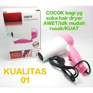 CUCI GUDANG-Hair Dryer Pengering Rambut Lipat salon Hairdrayer mini Pengering Rambut Portable thumbnail