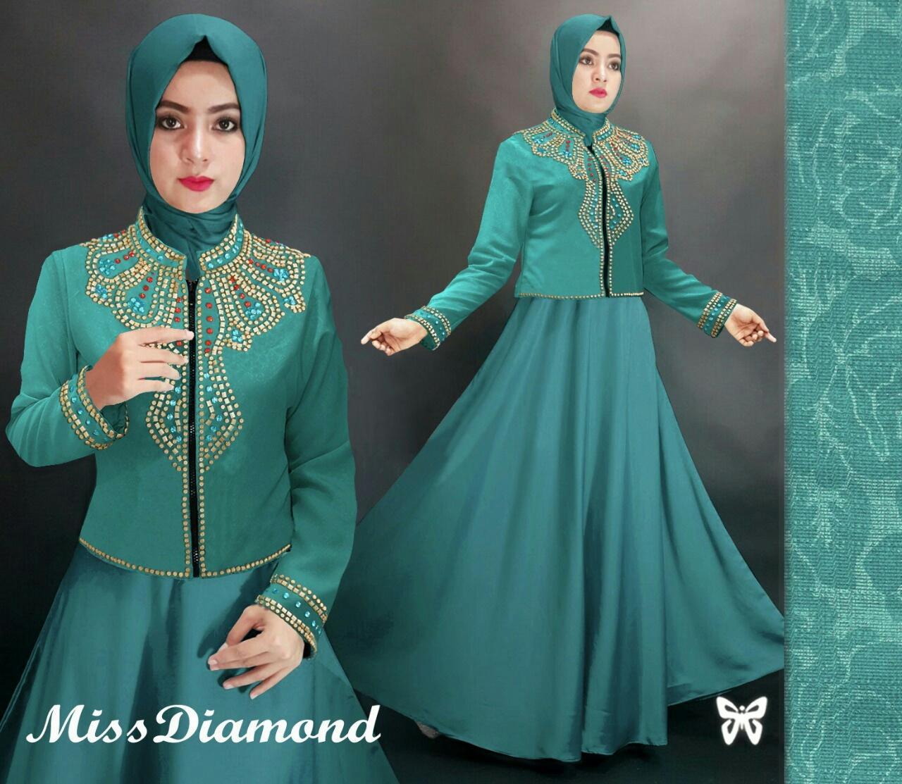 J&C Set Miss Diamond / Setelan Maxi Muslim / Setelan Dress Muslim / Dress Jersey / Dress Jersey Mus