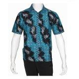 Harga Batik Solo Bo6002 Kemeja Batik Pria Motif Merak Biru Hitam Batik Solo Asli
