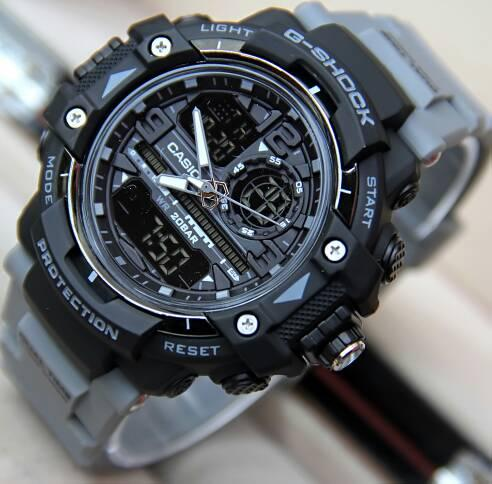 Jam tangan sport pria g shock_GS 1435 NEW dualtime limited edition