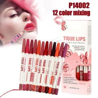Me Now True Lips Lip Liner 12 Color - Lipliner Lipstick 12 pcs thumbnail
