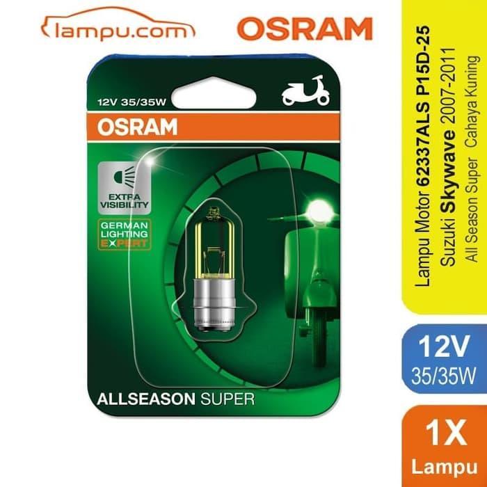 TERLARIS!!! Osram Lampu Depan Motor Suzuki Skywave 2007-2011 - 62337ALS SEDIA JUGA Lampu tumblr - Lampu led - Lampu sepeda - Lampu hias