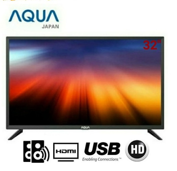 LED TV AQUA LE32AQT9200M [32 Inch] Miracast [Easy Connect], Powerfull Sound [2x10W], AVL - Auto Volume Level [Bergaransi Resmi]