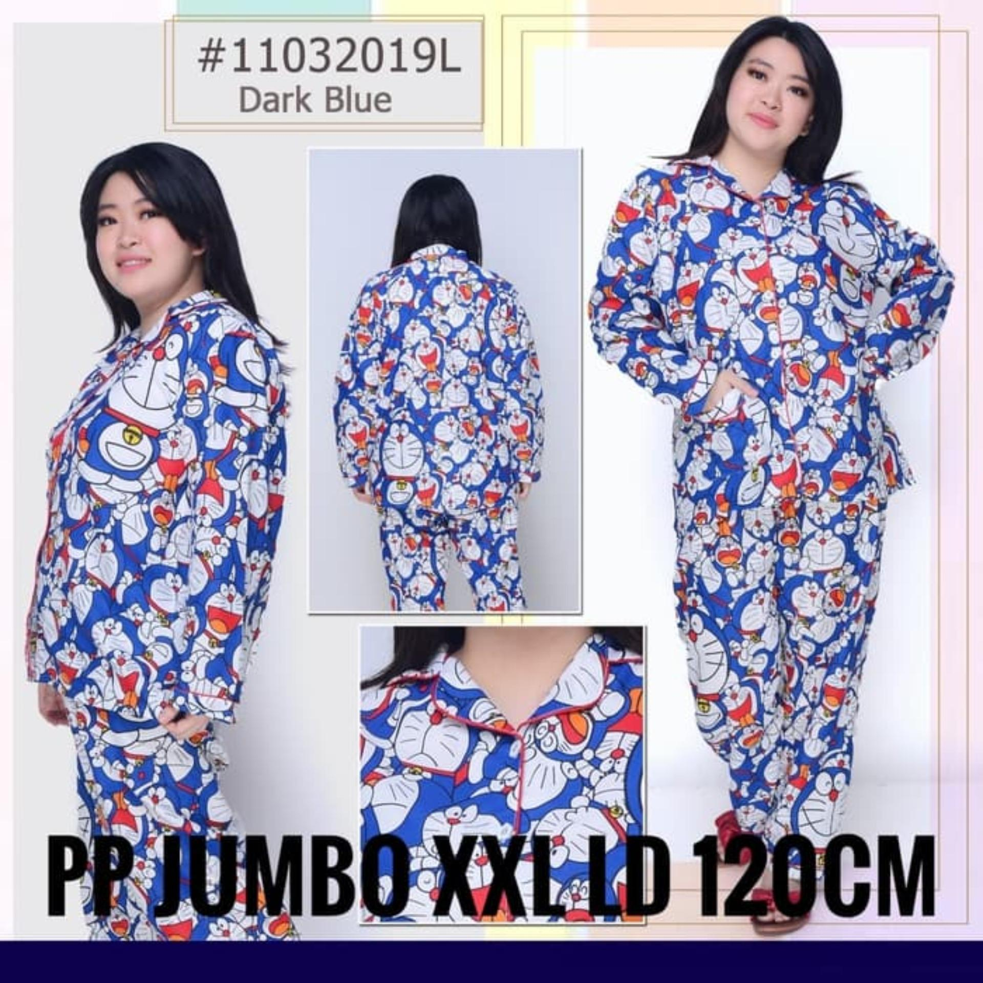 Topmodel99 Piyama Dewasa JUMBO Katun Jepang Doraemon Tumpuk PP/XXL/Ld 120cm