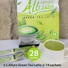 Spesifikasi 2 Packs Esprecielo Allure Green Tea Latte 28 Sachets X 24 Gram Baru