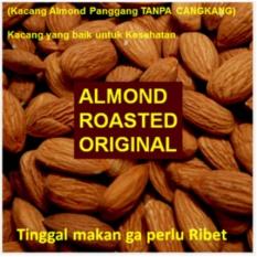 250gram Almond KUPAS Original - Roasted (Panggang) USA - California